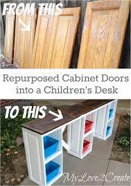 from my love 2 createcabinet doors into children s desk