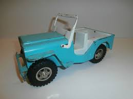 vine 1960 s tonka metal light blue turquoise color jeep toy car truck tonka jeep