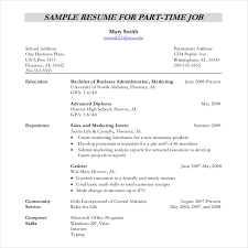 resumes for part time jobs resume template resume writing template free career resume template