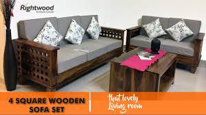 wooden design furniture. Sofa Set Designs 2017 / 2018 WOODEN FOUR SQUARE BY RIGHTWOOD FURNITURE - YouTube Wooden Design Furniture