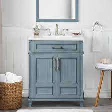 Home Decorators Collection Highgate 30 In W X 22 In D Vanity In Antique Manhattan Blue With Cultured Marble Vanity Top In White With White Basin Highgate 30amb The Home Depot