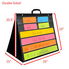 Hanging Pocket Chart Double Sided Table Hanging Pocket Chart With Handle