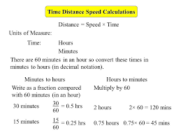 Time Distance Speed Calculations Ppt Video Online Download