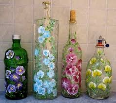 Decorative Jars Ideas Recycle Craft Decorative Painted Bottle Ideas Crafts 38