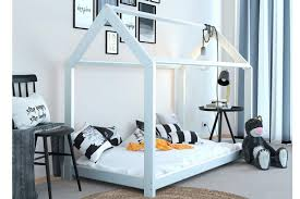 treehouse style white kids wooden solid pine single bed frame sleep design