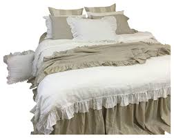 white linen duvet cover with country ruffles traditional duvet covers and duvet sets by superiorlinenshandmade