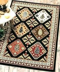 cabin area rugs log rug style lodge rustic bear family green for decor ar southwestern area cabin rug