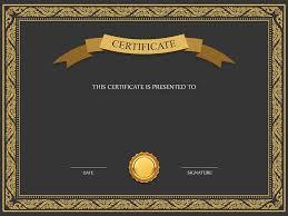 Certificate Illustration Template Academic Certificate