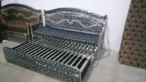 sofa bed made up of stainless steel rs 12 500