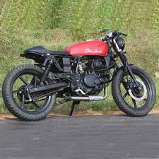 bajaj pulsar 200 cafe racer by adromeda custom motorcycles