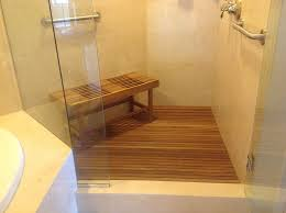 bathroom custom teak shower bench design ideas benches for pertaining to decorations 17
