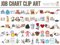 Job Chart Chore Chart Clip Art Chore Chart Kids Chore