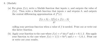 matlab a for given f x write a matlab fun com  matlab a for given f x write