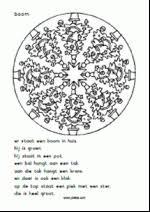 Taallezen Kerst Mandala Kerstboom Leestekst Kerst Christmas