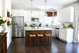 hope you guys enjoyed the kitchen tour with white cabinets dark kitchen island if you missed the breakfast room reboot you can check it out here