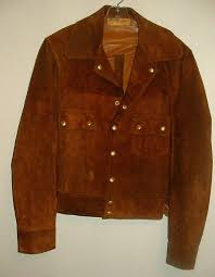 details about vtg walter dyer suede leather buckskin western rancher jacket men sz 38 40