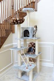 78 Inch Cat Tree Model A7802 Armarkat Carpet and Rope Covered With Dual Condo