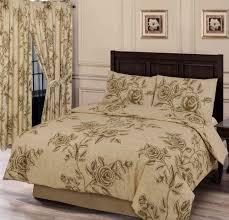details about super king size duvet cover set wild rose fl natural beige brown bedding set