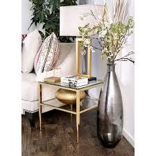 contemporary metal furniture. furniture of america midiva contemporary metal end table e