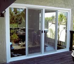 beautiful white aluminum sliding door