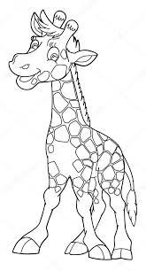 Kleurplaat Giraf Stockfoto Agaes8080 54339925