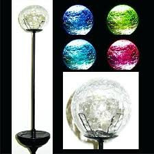 color changing solar garden lights. Color Changing Solar Garden Lights Powered Crackle Glass Ball With Led