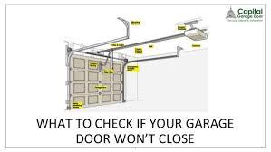 garage door won t close all the wayGarage Interesting fix garage door won t close ideas Garage Door