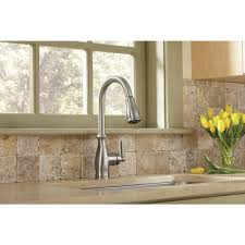 Reviews Of Kitchen Faucets Moen Brantford Single Handle Pull Down Sprayer Kitchen Faucet With