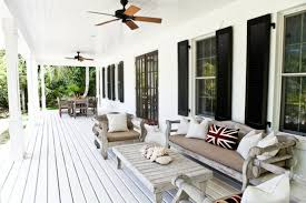 outdoor ceiling fans white. Download Outdoor Ceiling Fans For White Patio With Rustic Wooden Furniture