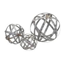 Stainless Steel Decorative Balls Set of 100 Industrial Chic Rustic Galvanized Metal Round Ball 34