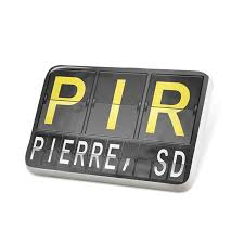 Neonblond Porcelein Pin Pir Airport Code For Pierre Sd Lapel