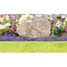 precious moments angel 8 in x 7 25 in resin memorial garden stone