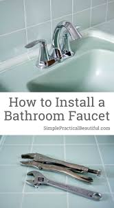 installing a bathroom faucet. How To Install A Bathroom Faucet | DIY Plumbing Replace Remove An Installing