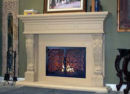 elegant fireplace mantel kits with shelves and rug and grey wall for home decoration ideas