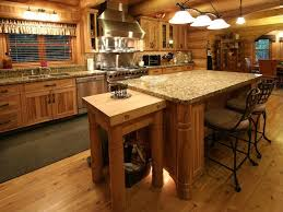 Rustic Kitchen Furniture Rustic Kitchen With Flush Light Flat Panel Cabinets Zillow