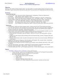 qa entry level resumes