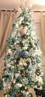 #Winter wonderland #Christmas tree blue, silver and white decor