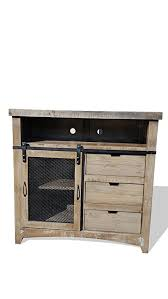 50 inch sliding barn door style rustic western antique distressed reclaimed wood look tv stand a