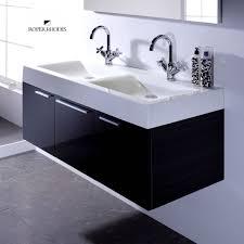 motiv 1200mm wall mounted gloss white double basin vanity unit wall hung bathroom