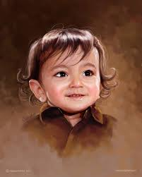 baby boy portrait painting