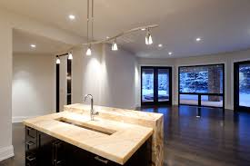 track lighting in kitchen. Contemporary Track Lighting Kitchen. Interesting Bedroom Within Bathroom Kitchen With Black Cabinets In