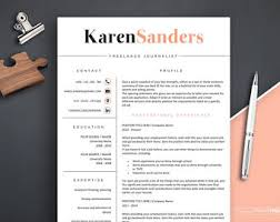 Resume Template, Resume Template for Fashion, Modern Resume Template Word,  CV Template Word