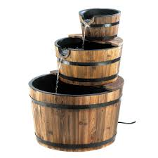 Small Picture Amazoncom Rustic Three Tier Apple Barrel Outdoor Water Fountain