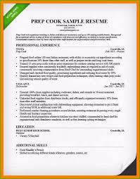 Sample Grill Cook Resume Grill Cook Resume Admirable Stocks Prep Cook Resume Examples