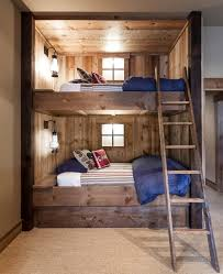 Rustic Staircase Design Ideas Bed With Stair Decorating And Lovely Bunk  Beds Built Into The Wall