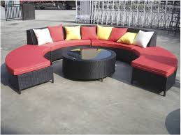 amazing cheap black resin wicker modular outdoor patio furniture set with round coffee table and red seat cushions cheap wicker patio furniture cheap resin patio furniture