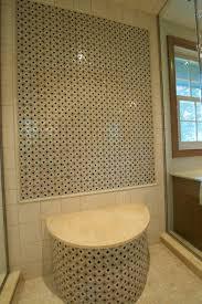 shower niches mosaic bathroom wall options photos master bath cut out ideas
