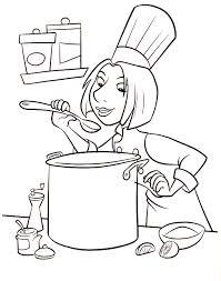 Coloriage De Cuisinier Dessin De Cuisinier A Imprimer L