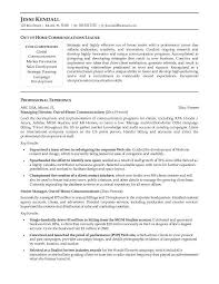 resume examples for communications director central head corporate communication resume