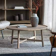 kingham round coffee table grey my